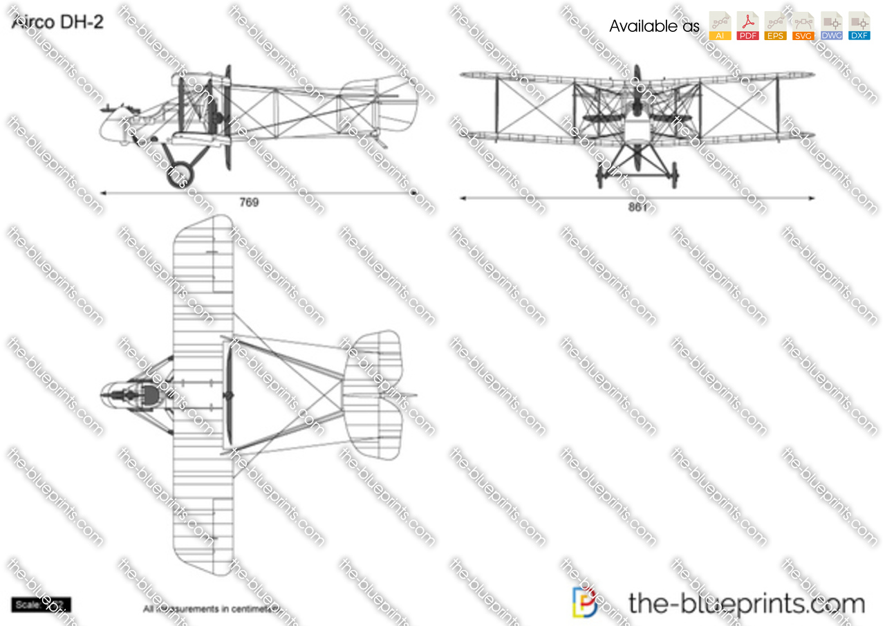 Airco DH 2 Plans http://www.the-blueprints.com/vectordrawings/show/5621/airco_dh-2/