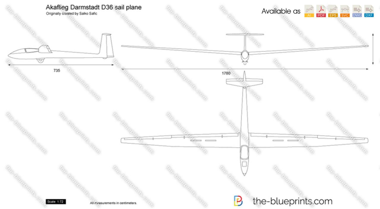 Akaflieg Darmstadt D36 sail plane