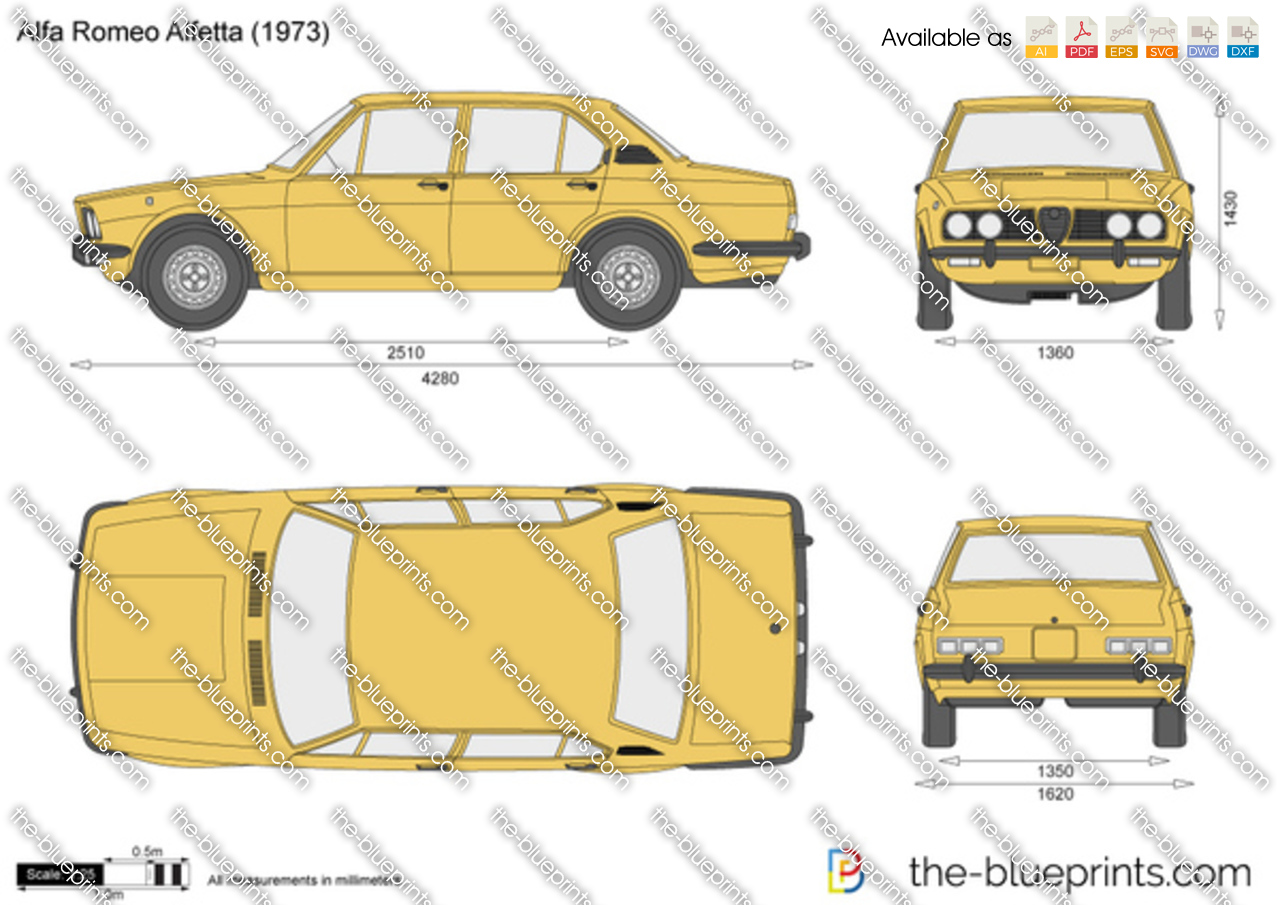 alfa romeo alfetta vector drawing