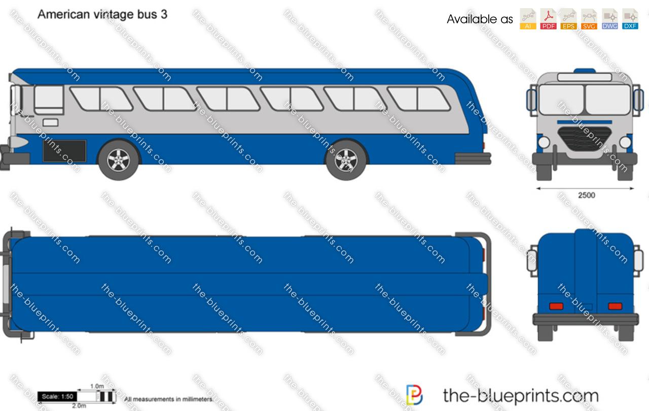 American vintage bus 3