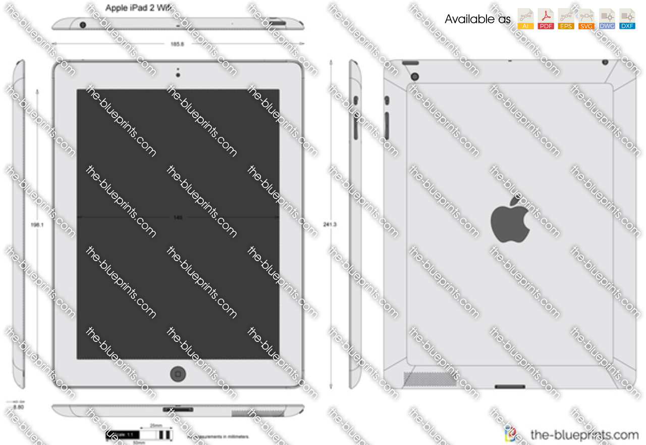 The blueprints vector drawing apple ipad 2 wifi malvernweather Images
