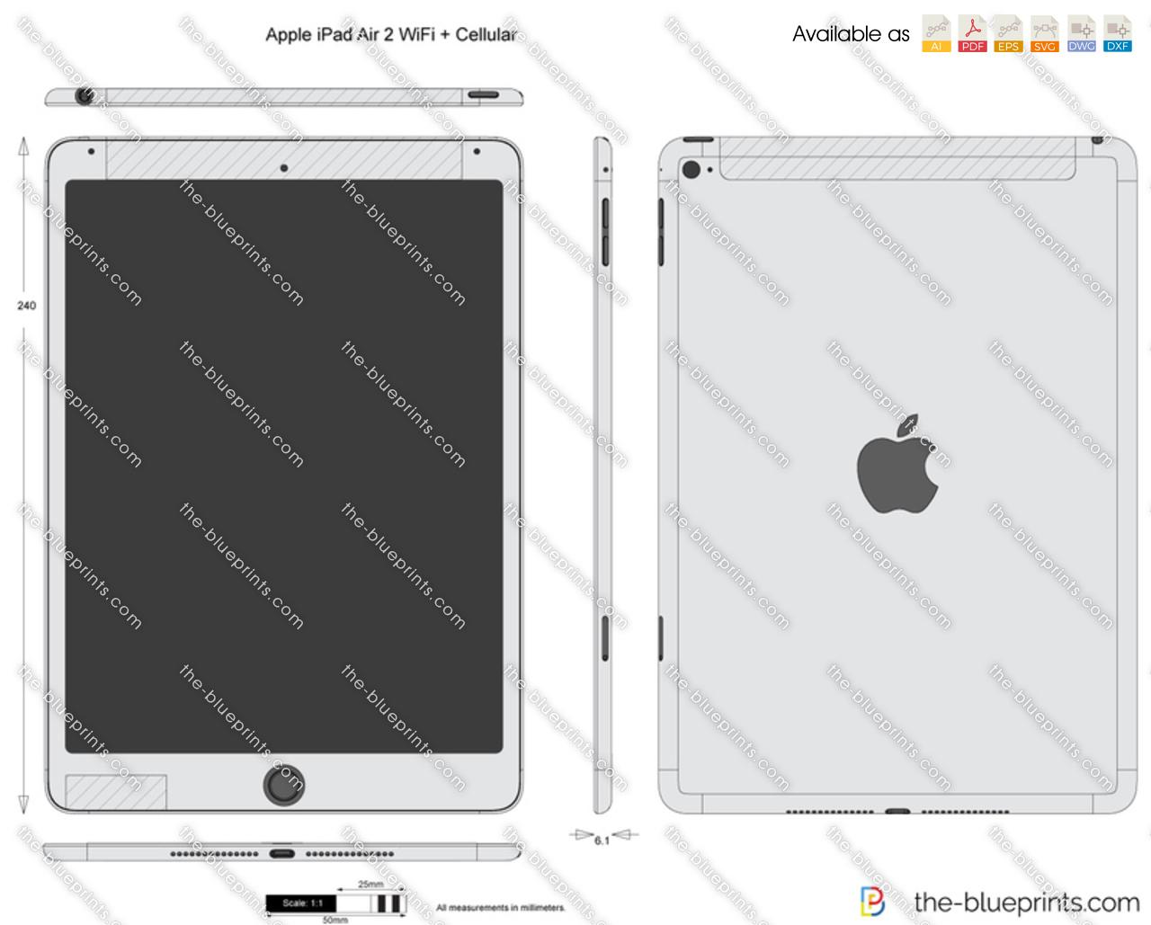 Apple iPad Air 2 WiFi + Cellular