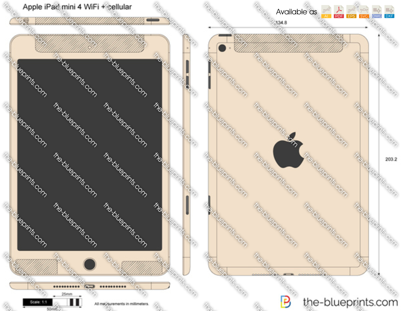 Apple iPad mini 4 WiFi + cellular