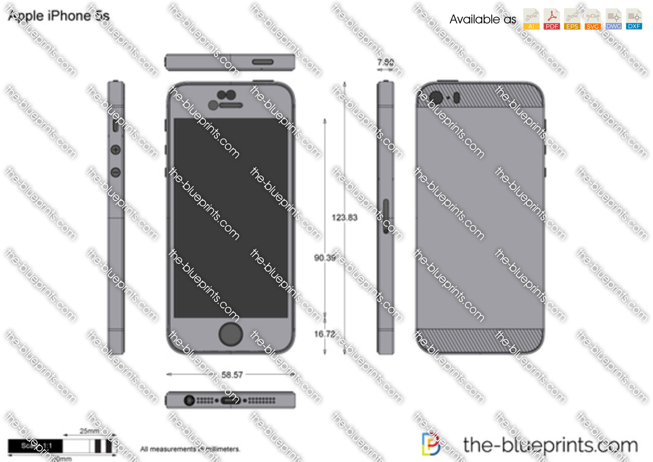 Apple IPhone 5s Vector Drawing