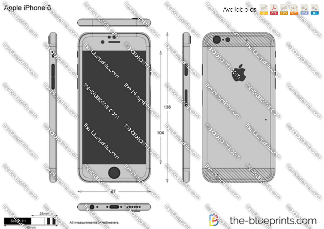 The blueprints vector drawing apple iphone 6 malvernweather Images