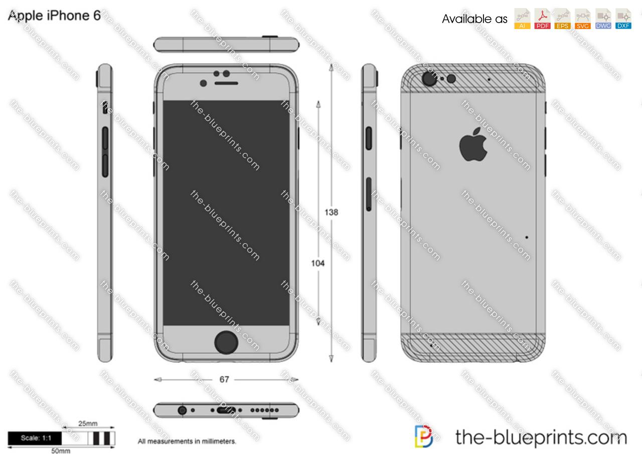 Apple iphone 6 vector drawing malvernweather Choice Image