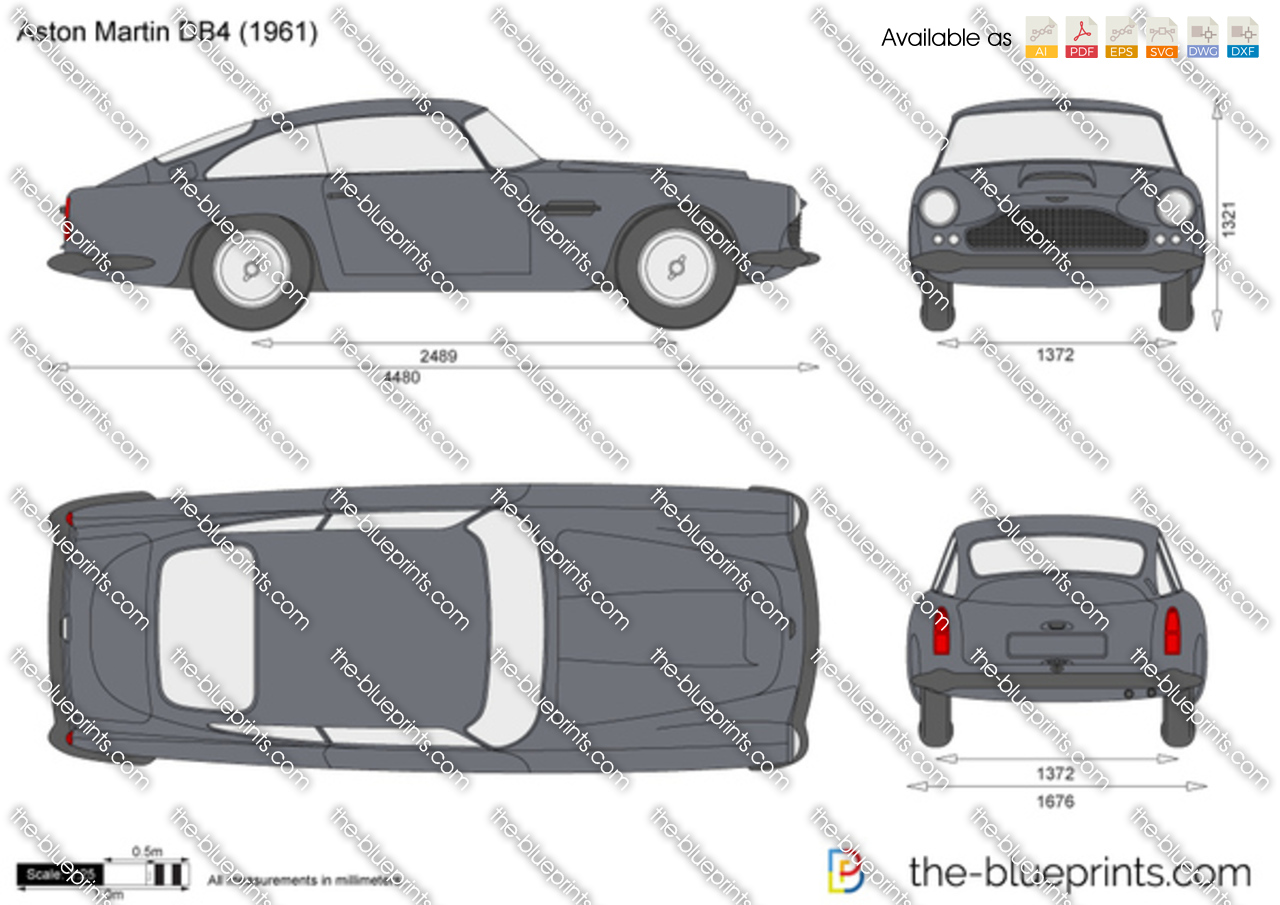 aston martin db4 vector drawing