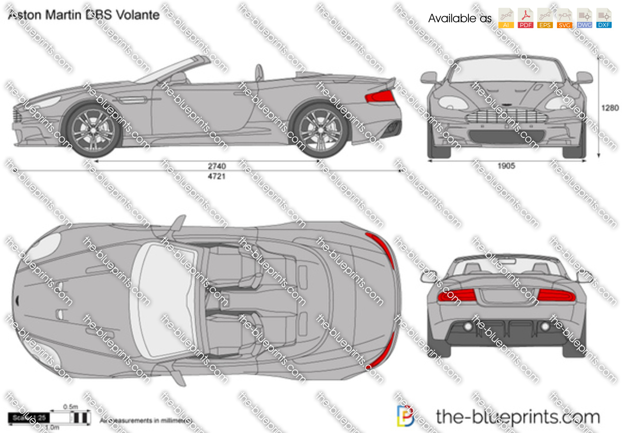 The Vector Drawing Aston Martin Dbs Volante