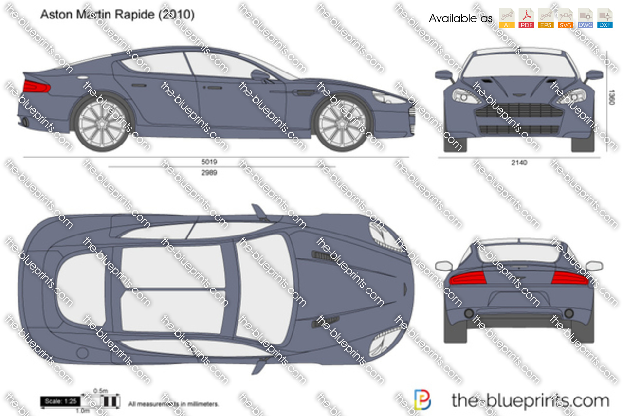 The Blueprints Com Vector Drawing Aston Martin Rapide