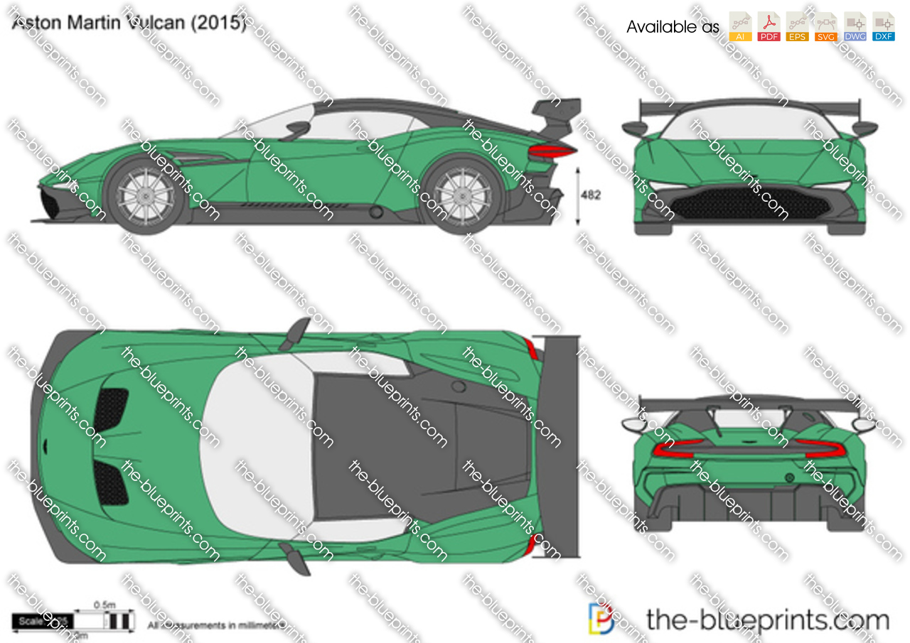The Blueprints Com Vector Drawing Aston Martin Vulcan