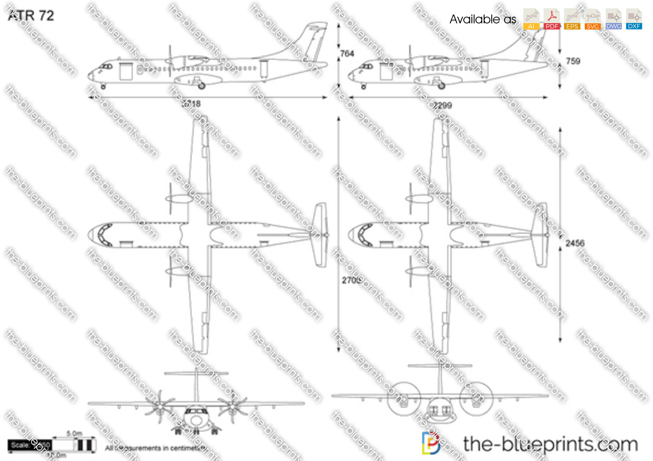 The Vector Drawing Atr 72