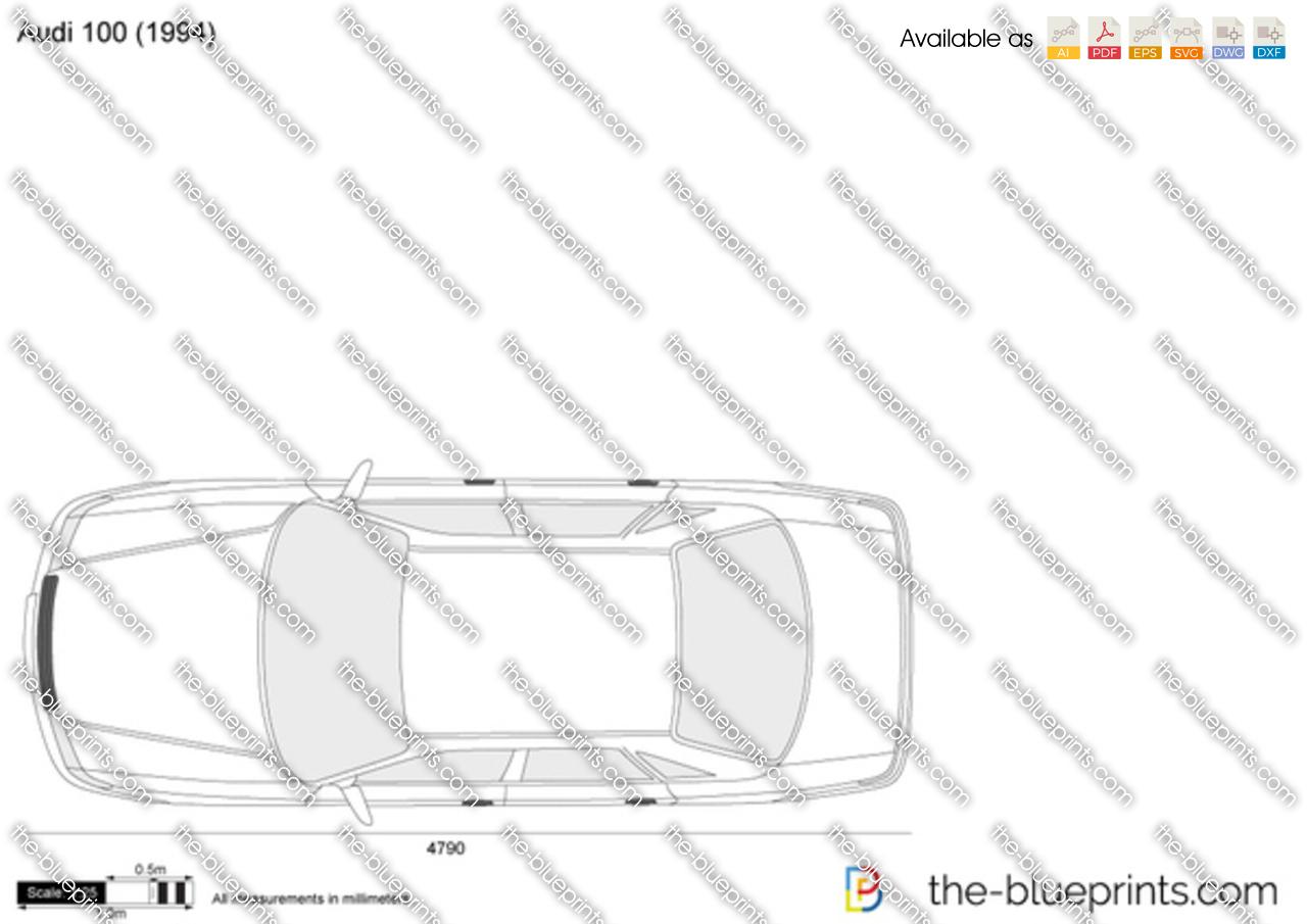 The Blueprints Com Vector Drawing Audi 100