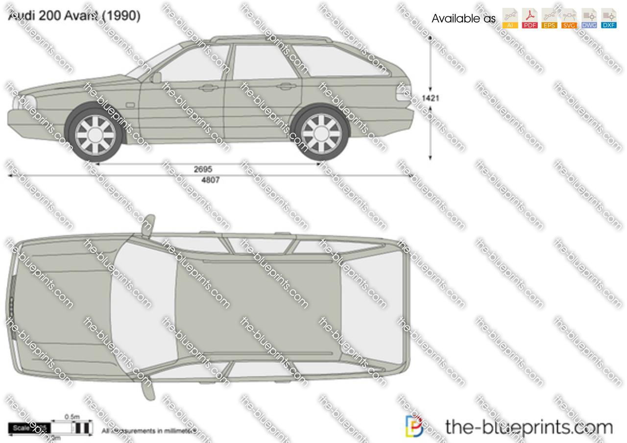 The Blueprints Com Vector Drawing Audi 200 Avant