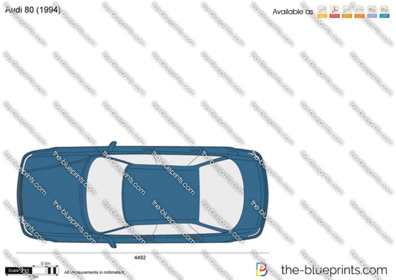 Audi 80 Vector Drawing