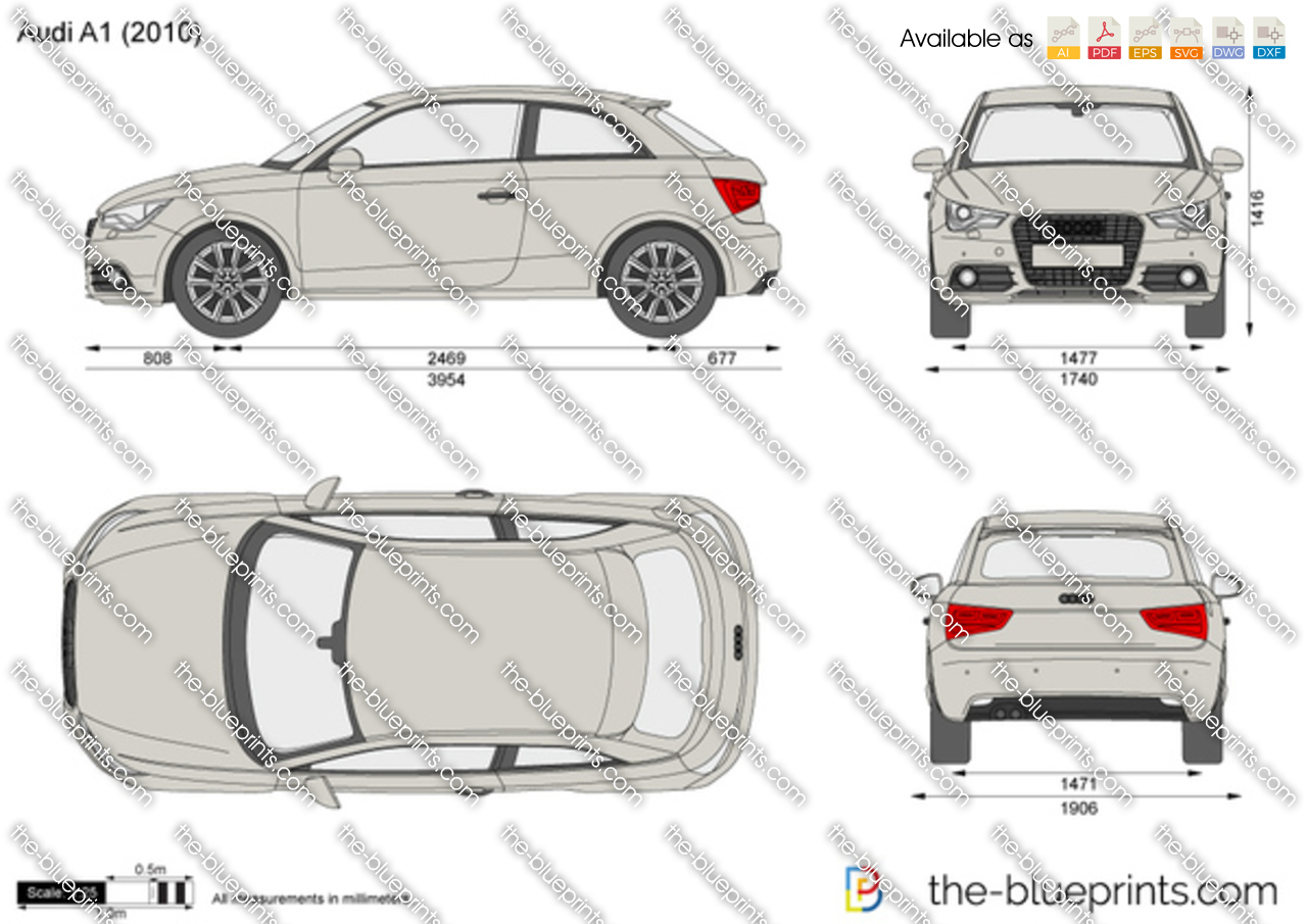 the vector drawing audi a1. Black Bedroom Furniture Sets. Home Design Ideas