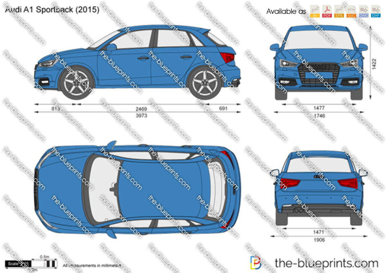 the vector drawing audi a1 sportback. Black Bedroom Furniture Sets. Home Design Ideas