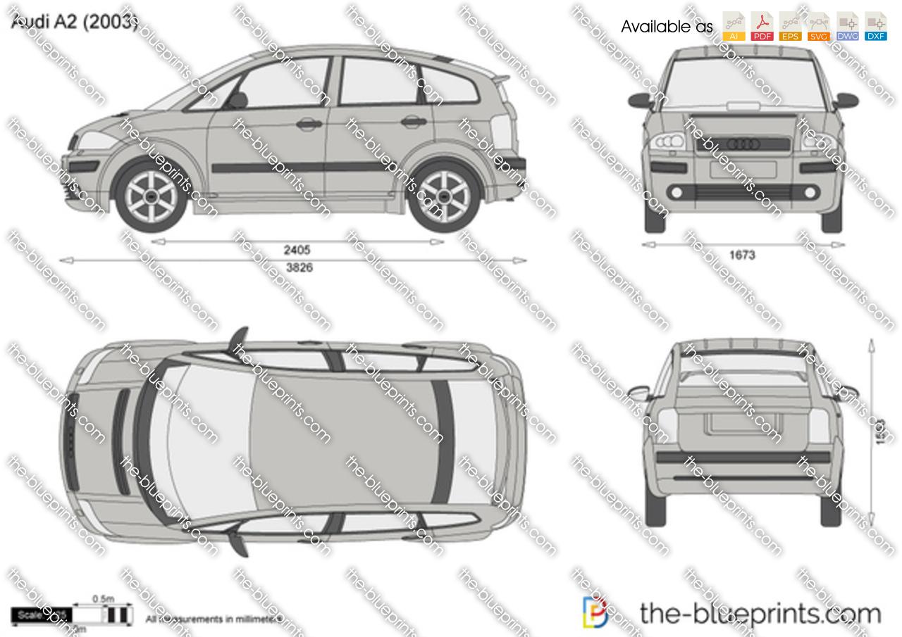 Audi A2 Vector Drawing