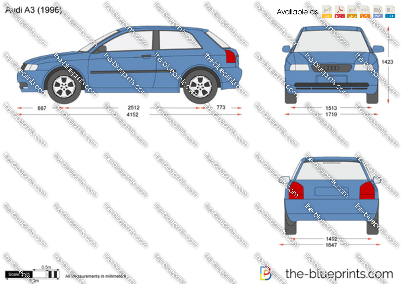 The Blueprints Com Vector Drawing Audi A3