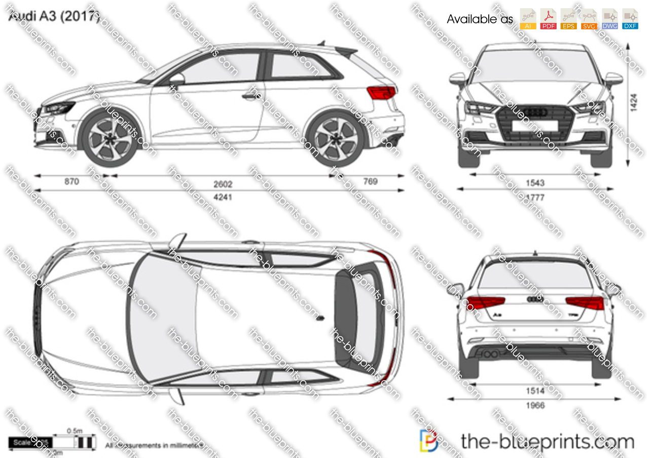 audi a3 vector drawing