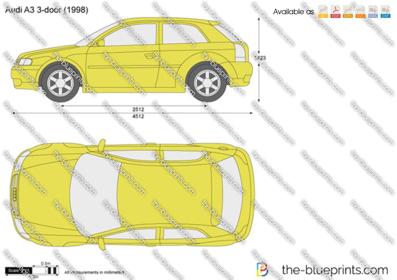 The Blueprints Com Vector Drawing Audi A3 3 Door