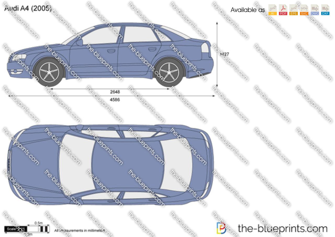 audi a4 vector drawing. Black Bedroom Furniture Sets. Home Design Ideas