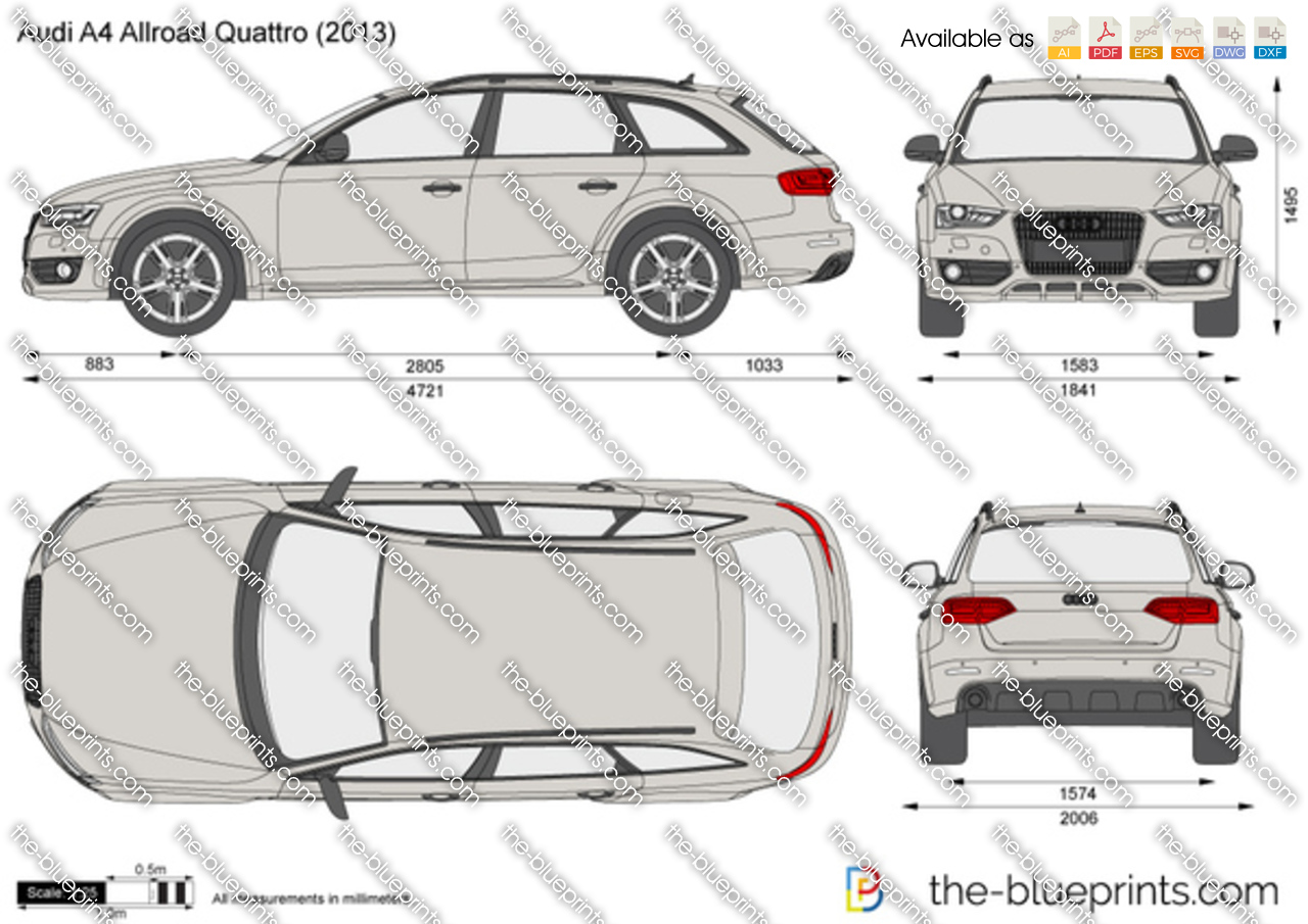 the vector drawing audi a4 allroad quattro. Black Bedroom Furniture Sets. Home Design Ideas