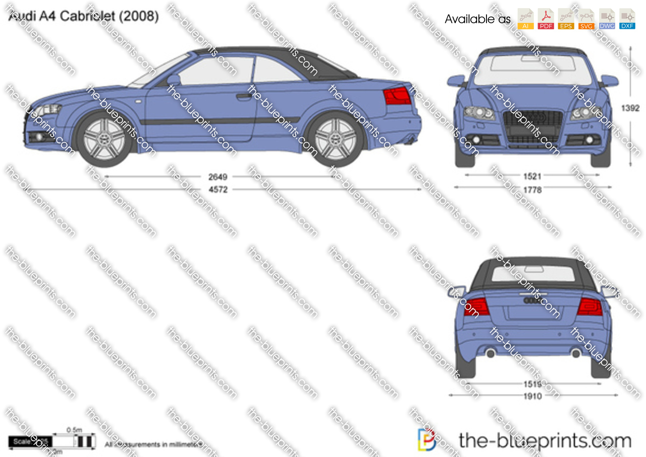 the vector drawing audi a4 cabriolet. Black Bedroom Furniture Sets. Home Design Ideas
