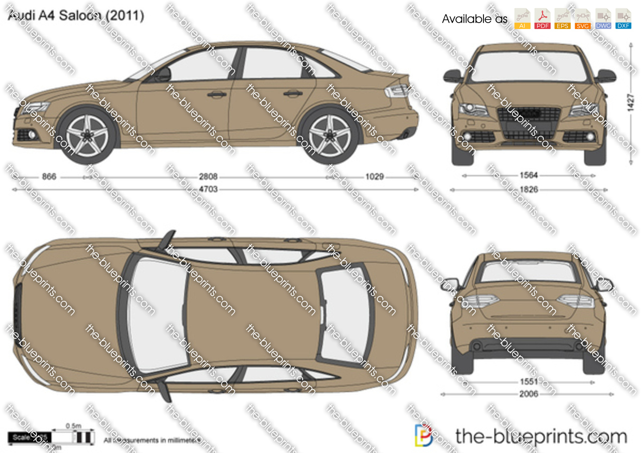 audi a4 saloon vector drawing. Black Bedroom Furniture Sets. Home Design Ideas