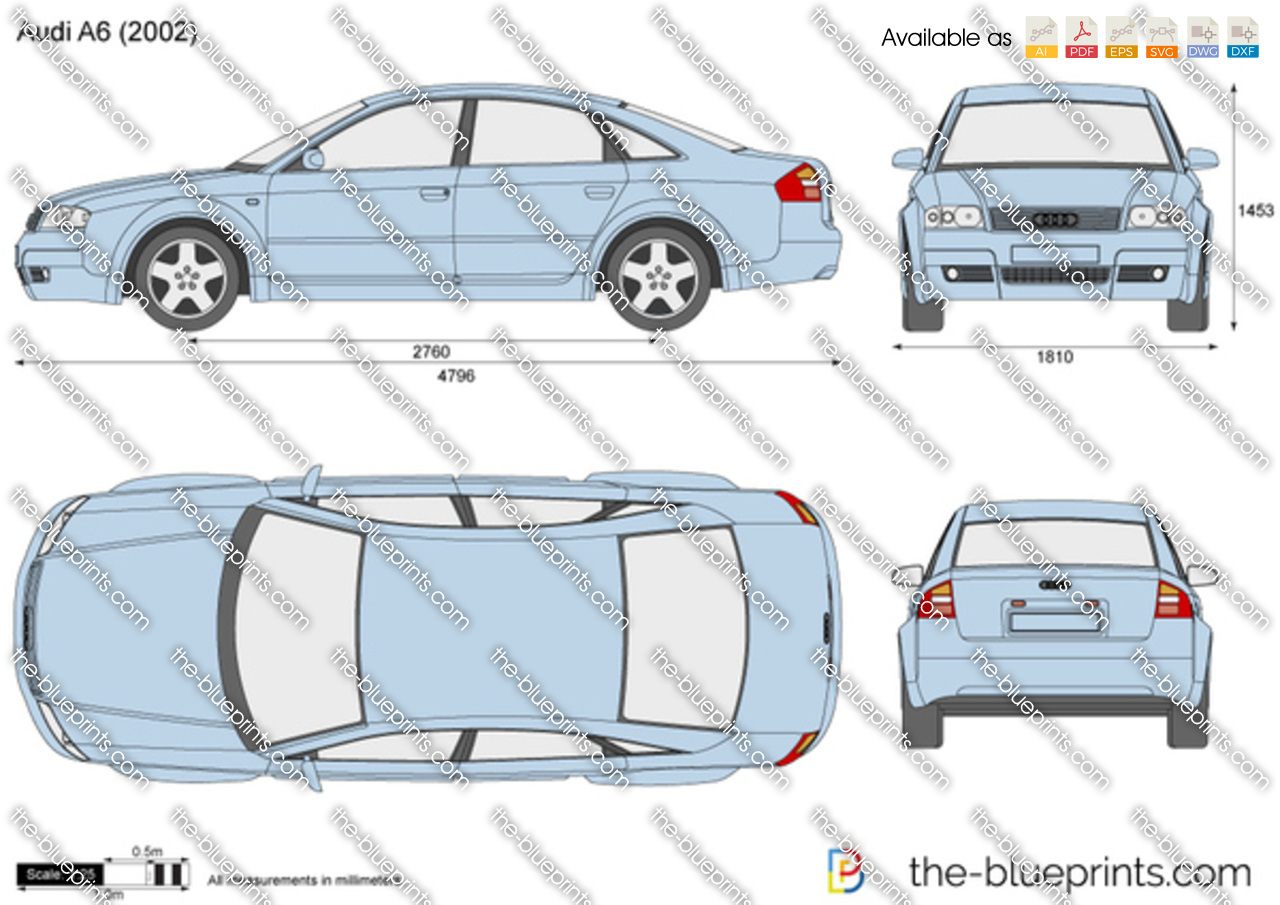 Audi A6 Vector Drawing