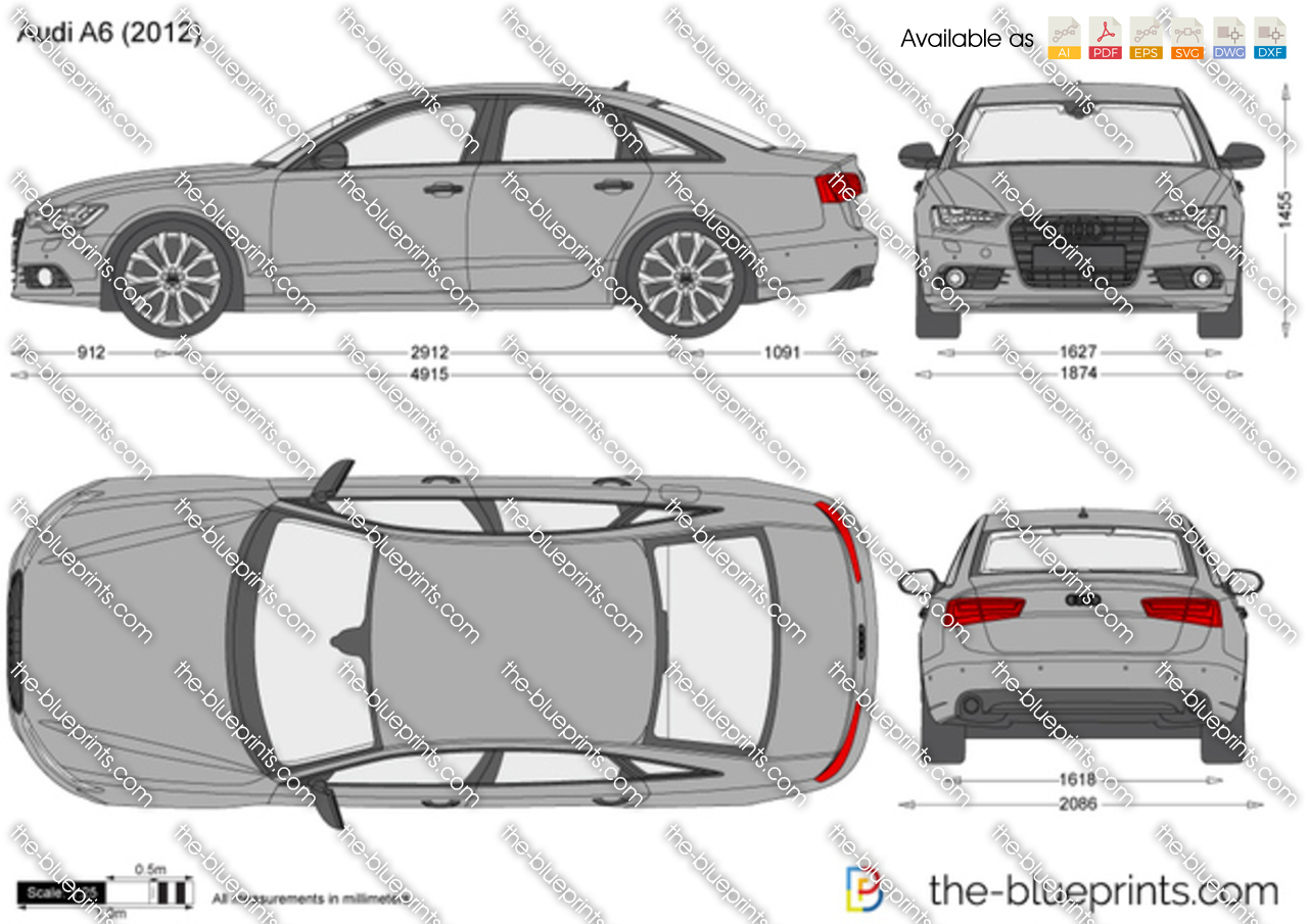audi a6 vector drawing. Black Bedroom Furniture Sets. Home Design Ideas