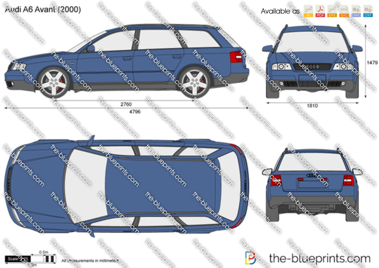 the vector drawing audi a6 avant. Black Bedroom Furniture Sets. Home Design Ideas