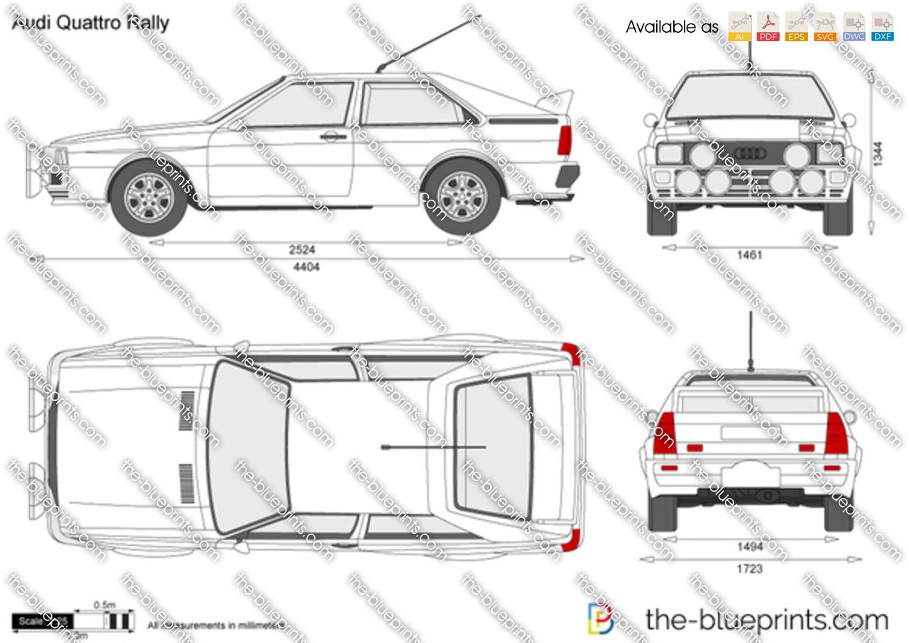 The Blueprints Com Vector Drawing Audi Quattro Rally