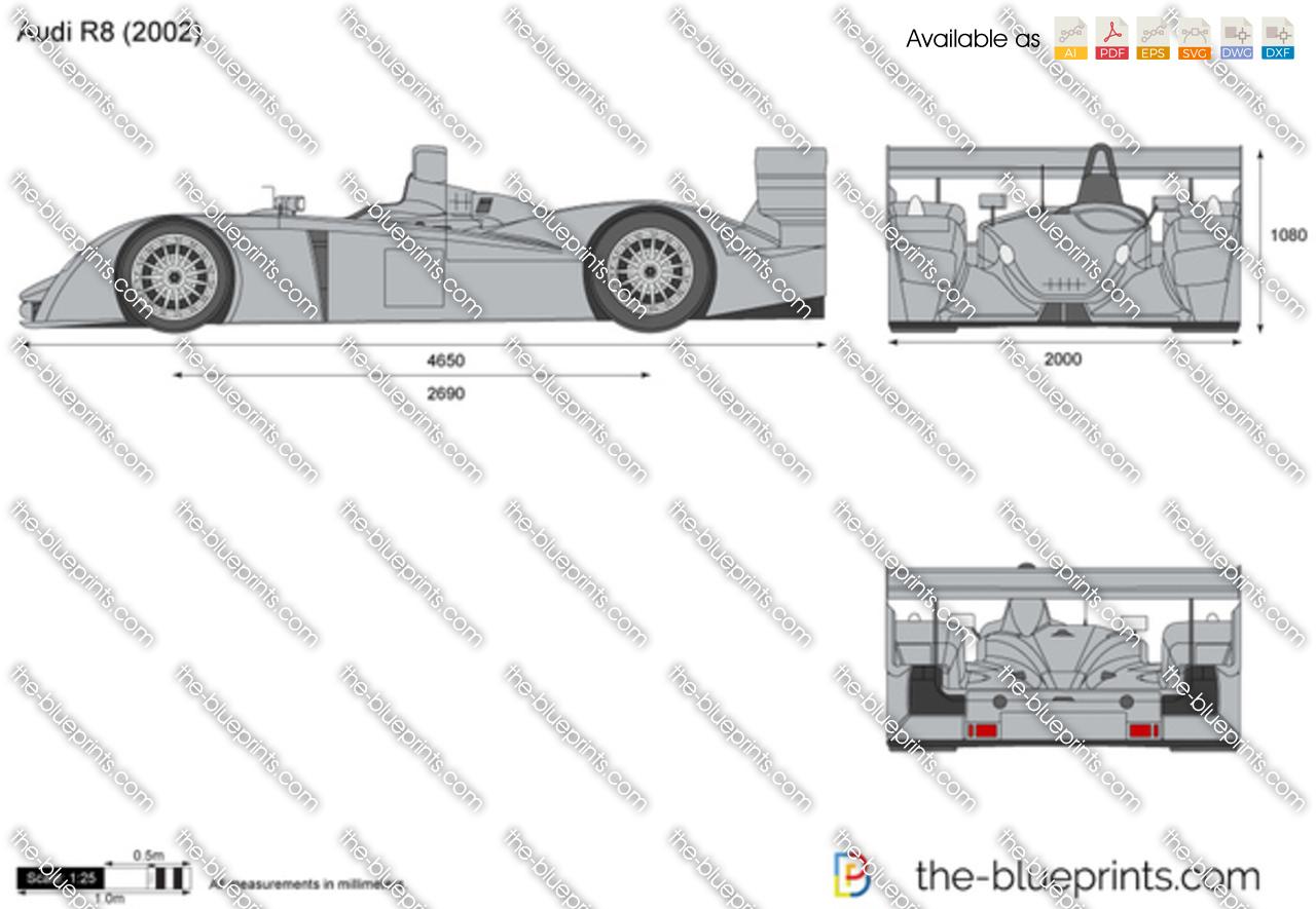 Blueprints cars audi audi r8 crocodile le mans 2000 audi r8 malvernweather Image collections