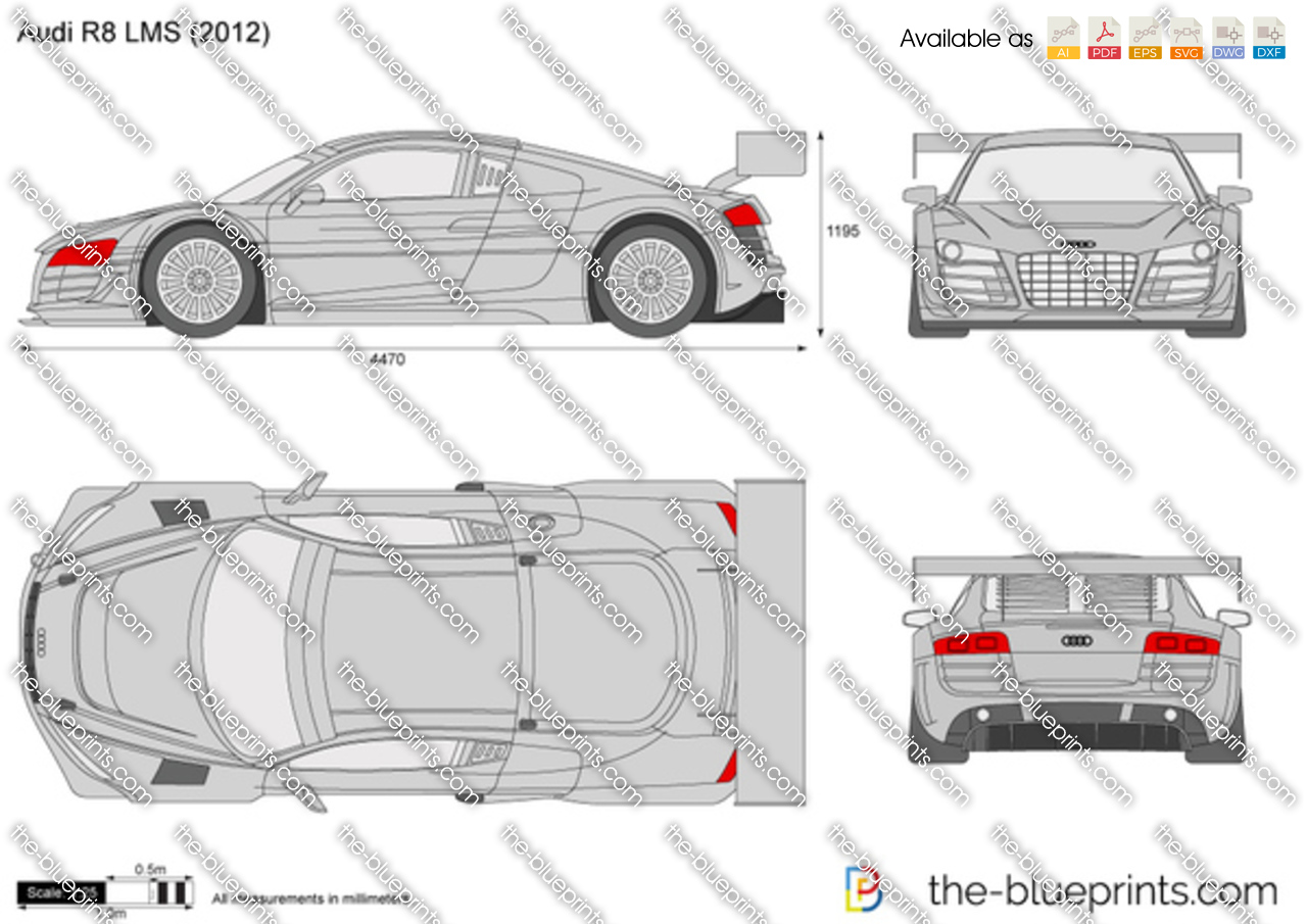 Audi R8 Lms Vector Drawing