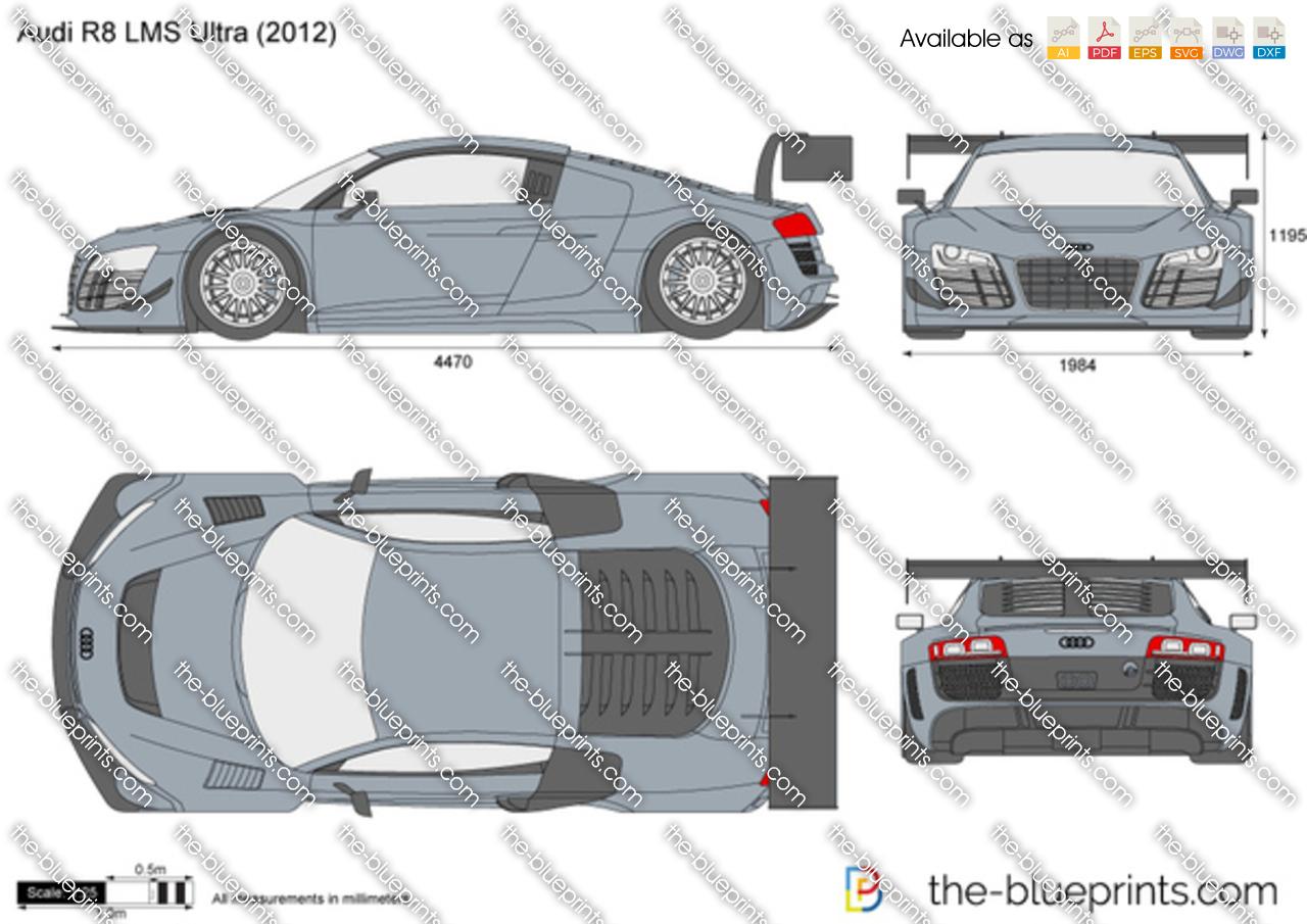 The-Blueprints.com - Vector Drawing - Audi R8 LMS Ultra