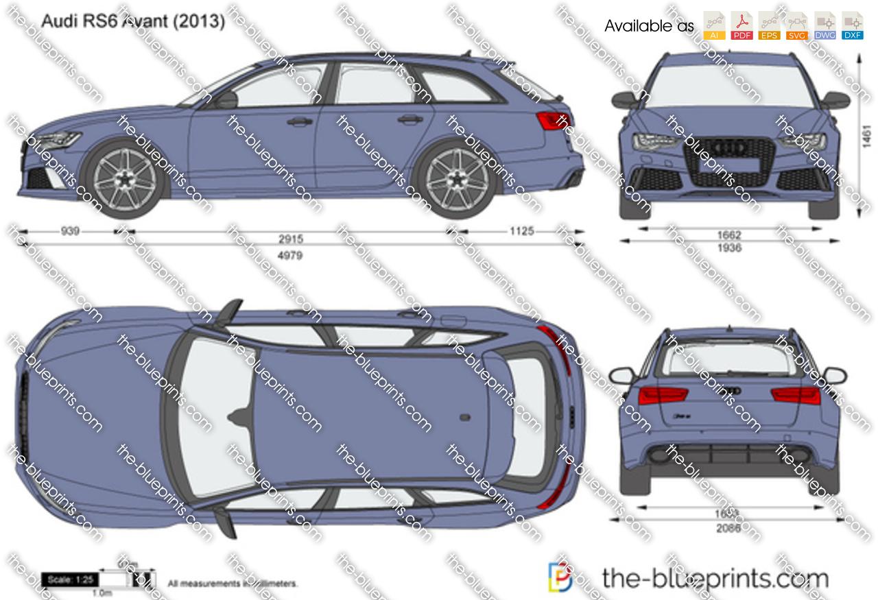 Audi Rs6 Avant Vector Drawing