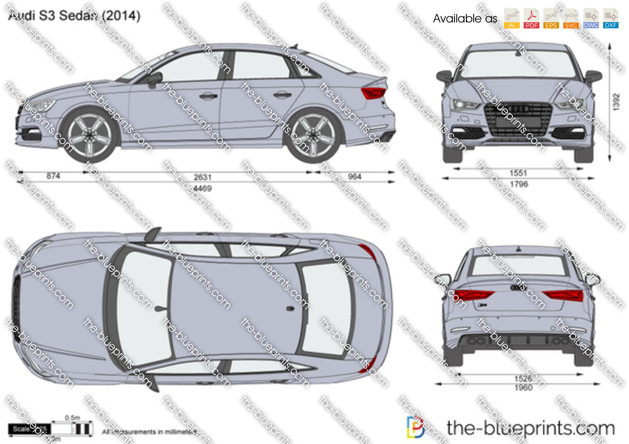 2014 Camry For Sale >> Audi S3 Sedan vector drawing