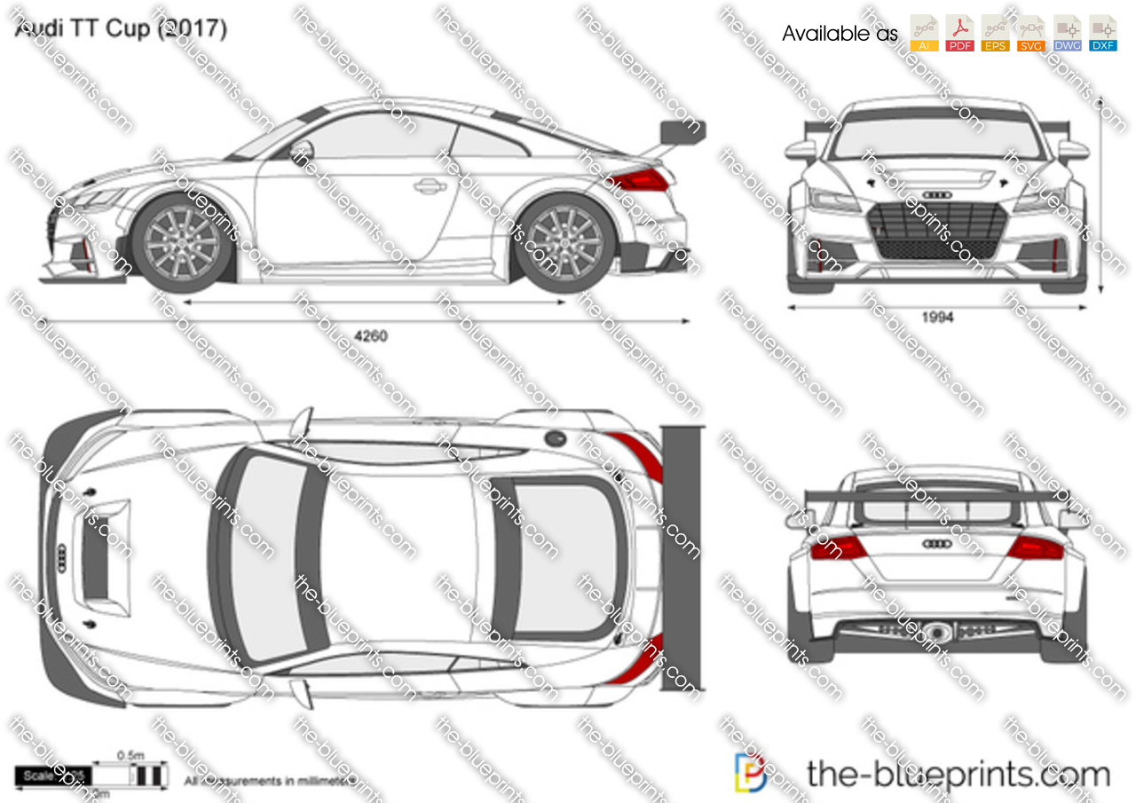 audi tt cup vector drawing