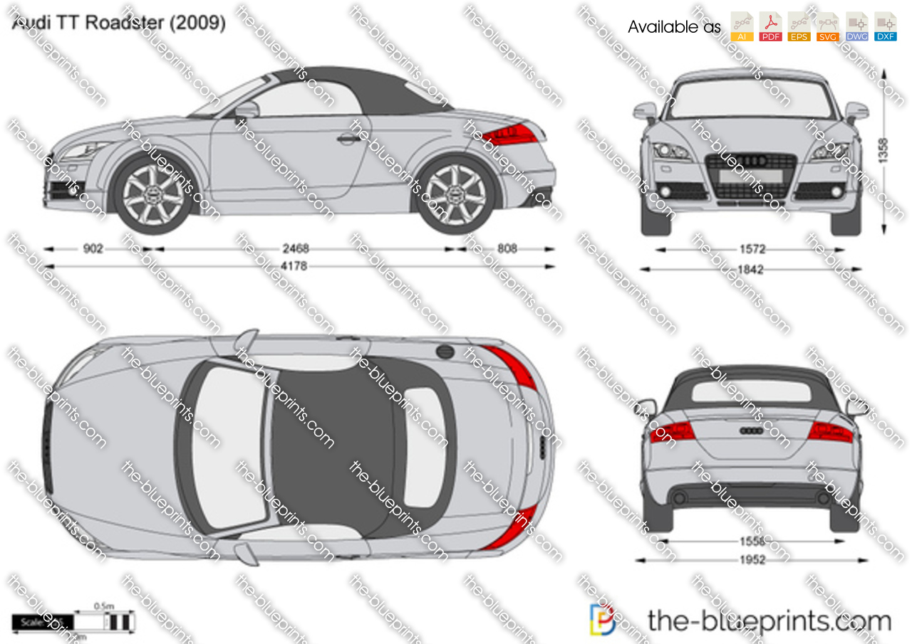 Audi Tt Roadster Vector Drawing