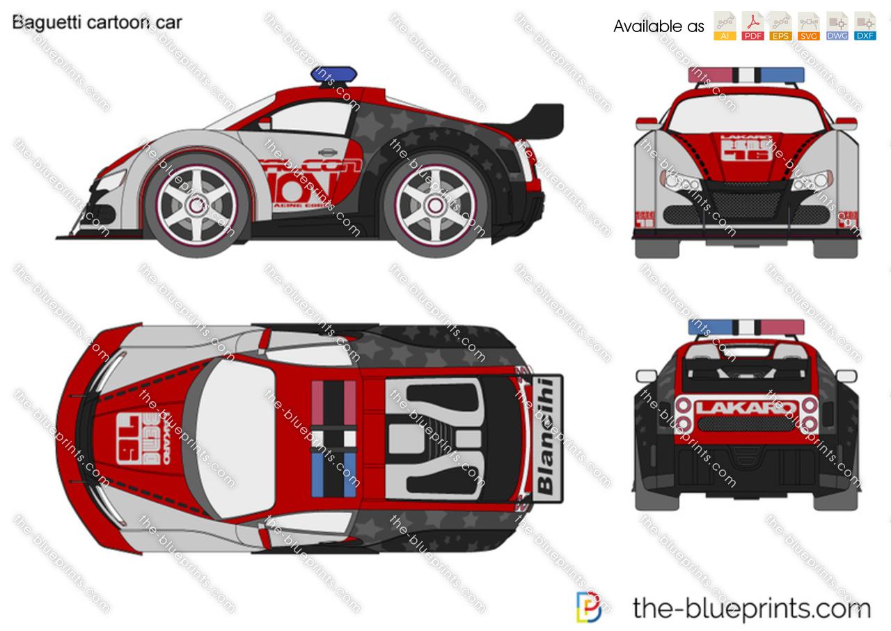 Baguetti cartoon car