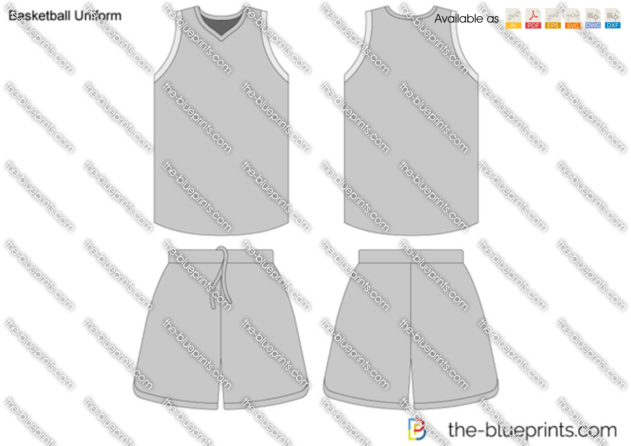 basketball uniform vector drawing