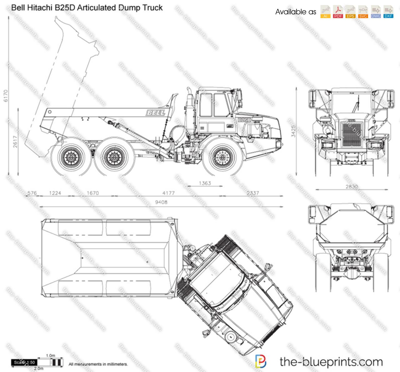 Bell Hitachi B25D Articulated Dump Truck