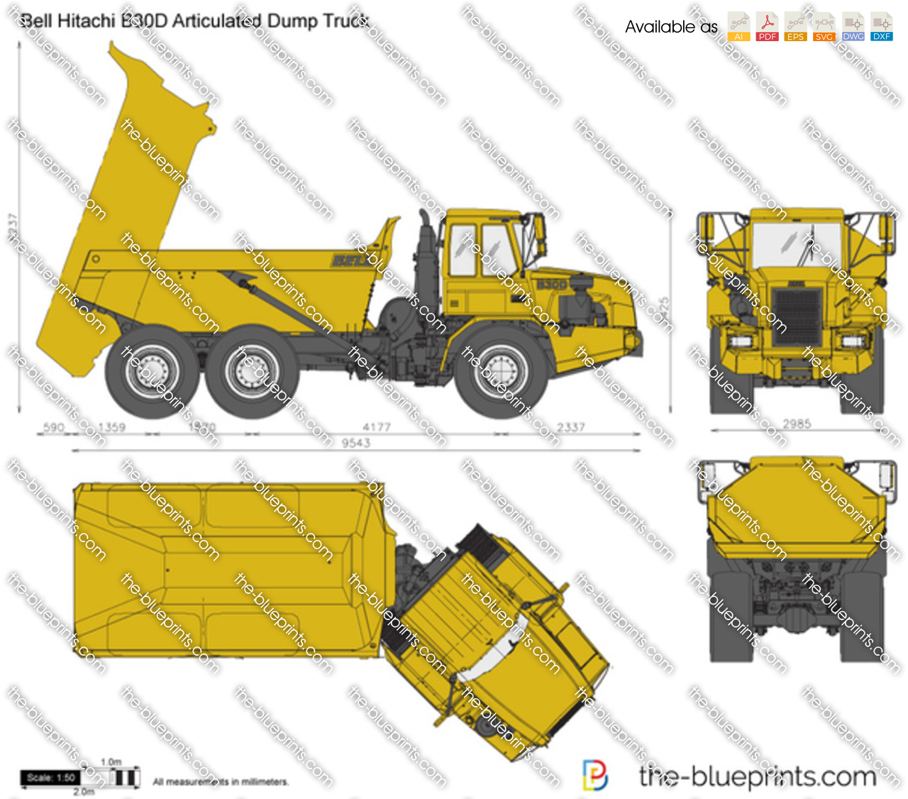 Bell Hitachi B30D Articulated Dump Truck