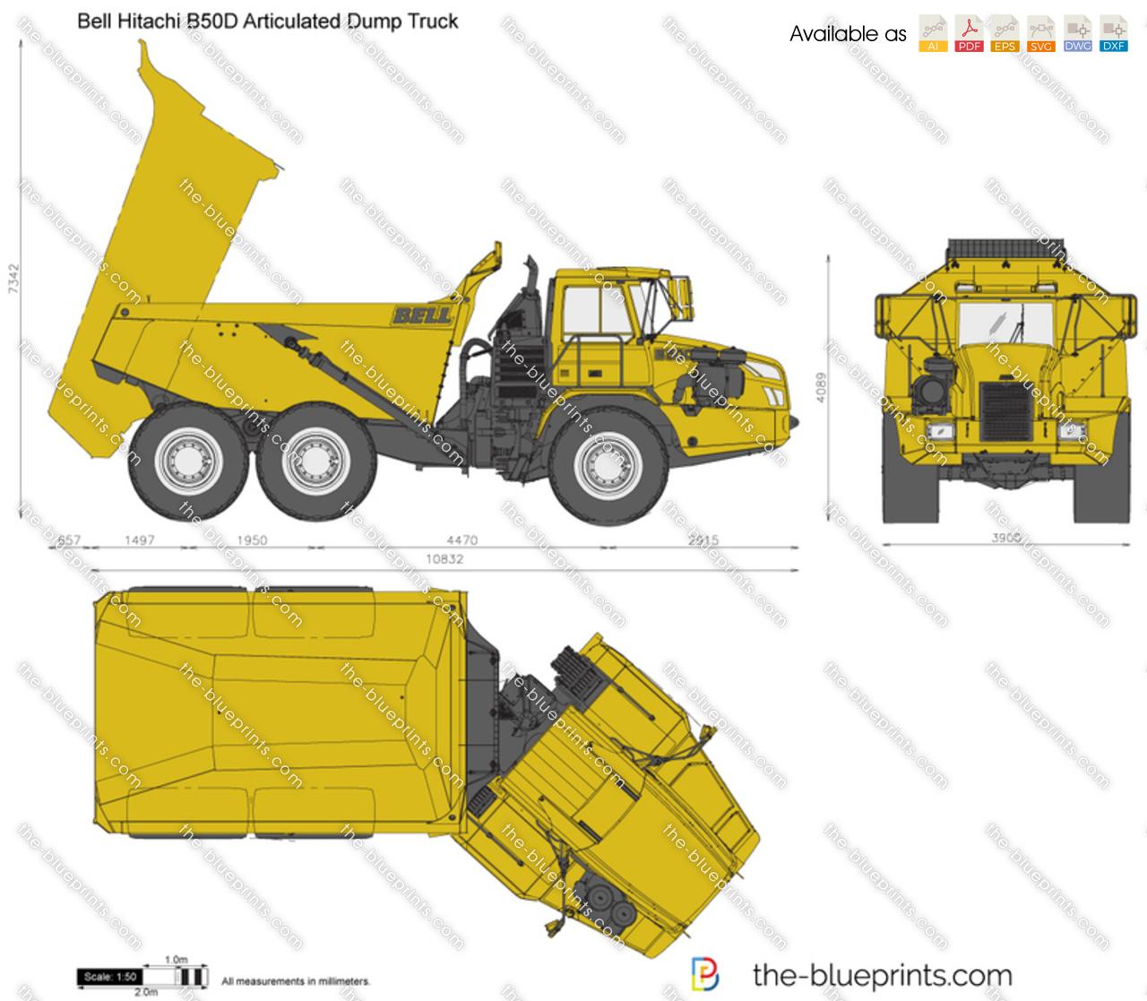 Bell Hitachi B50D Articulated Dump Truck