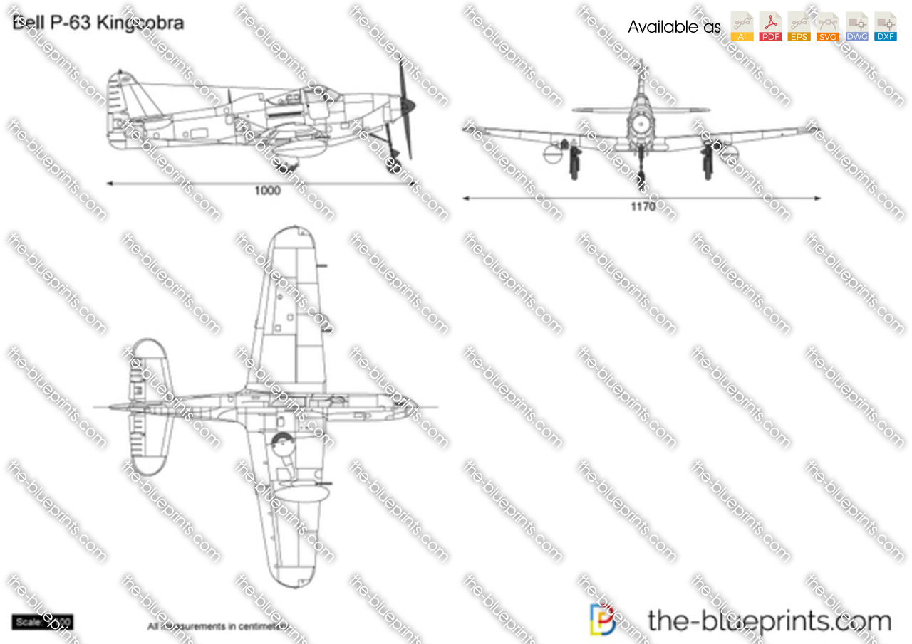 Bell p 63 kingcobra vector drawing for Where to get blueprints