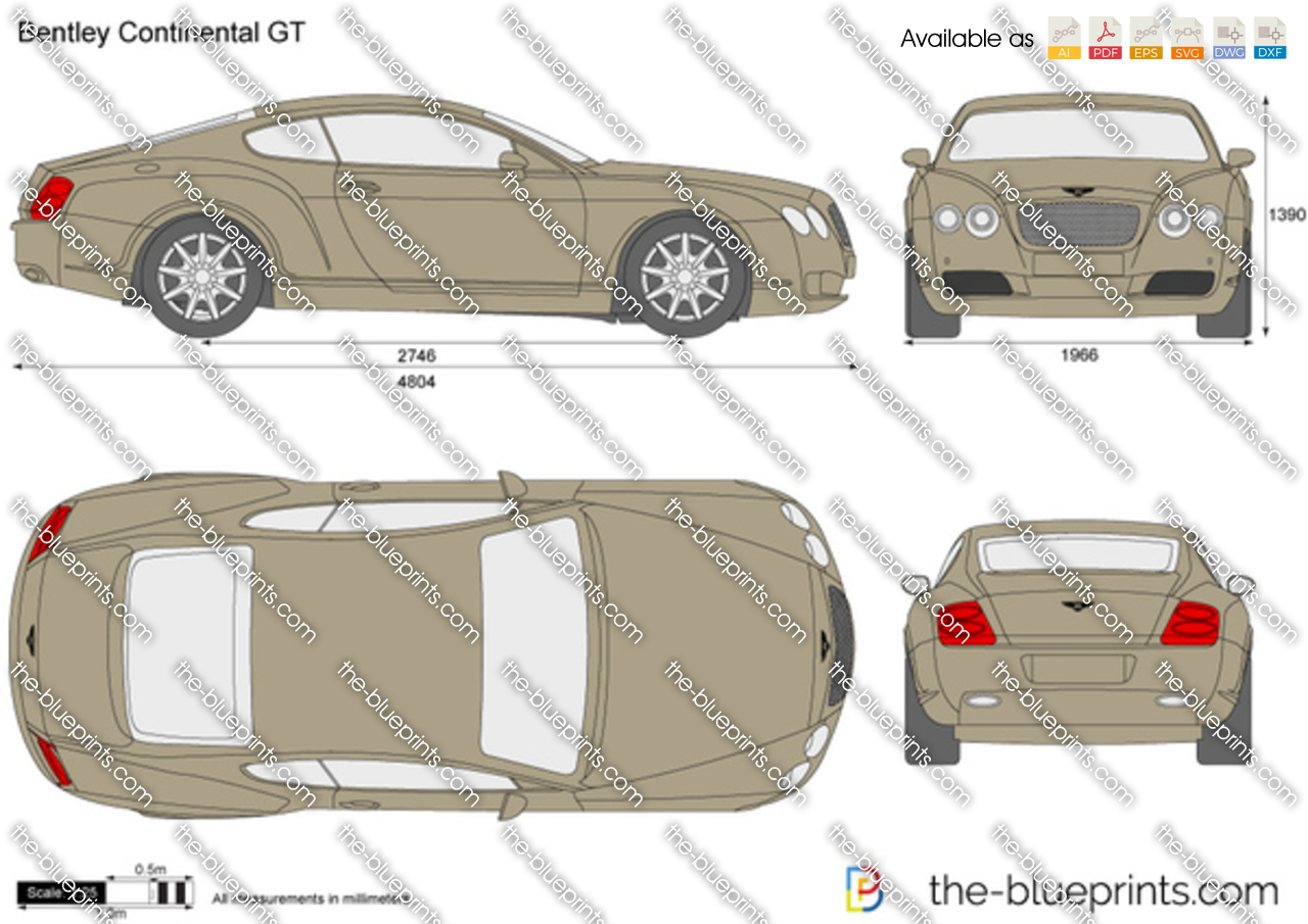 Bentley continental dimensions