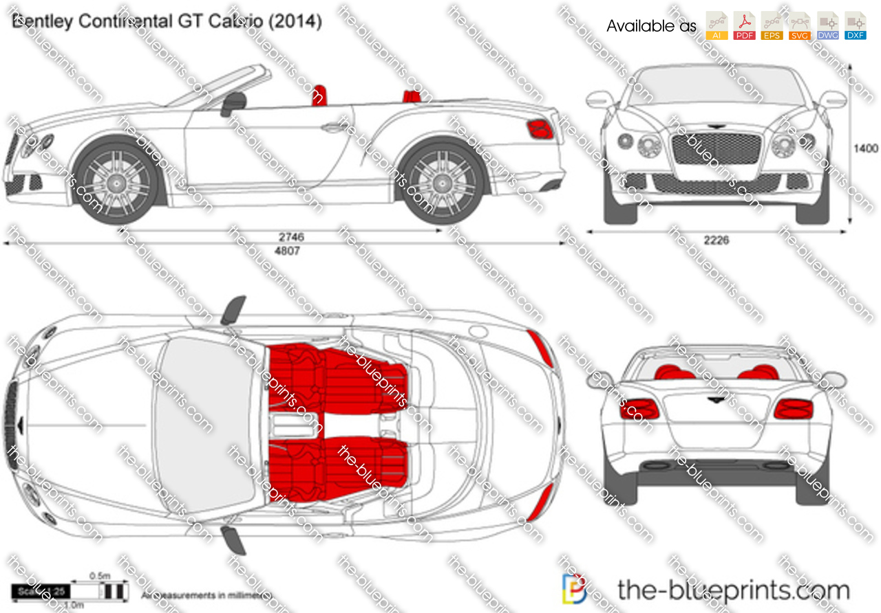 bentley continental gt cabrio vector drawing. Black Bedroom Furniture Sets. Home Design Ideas