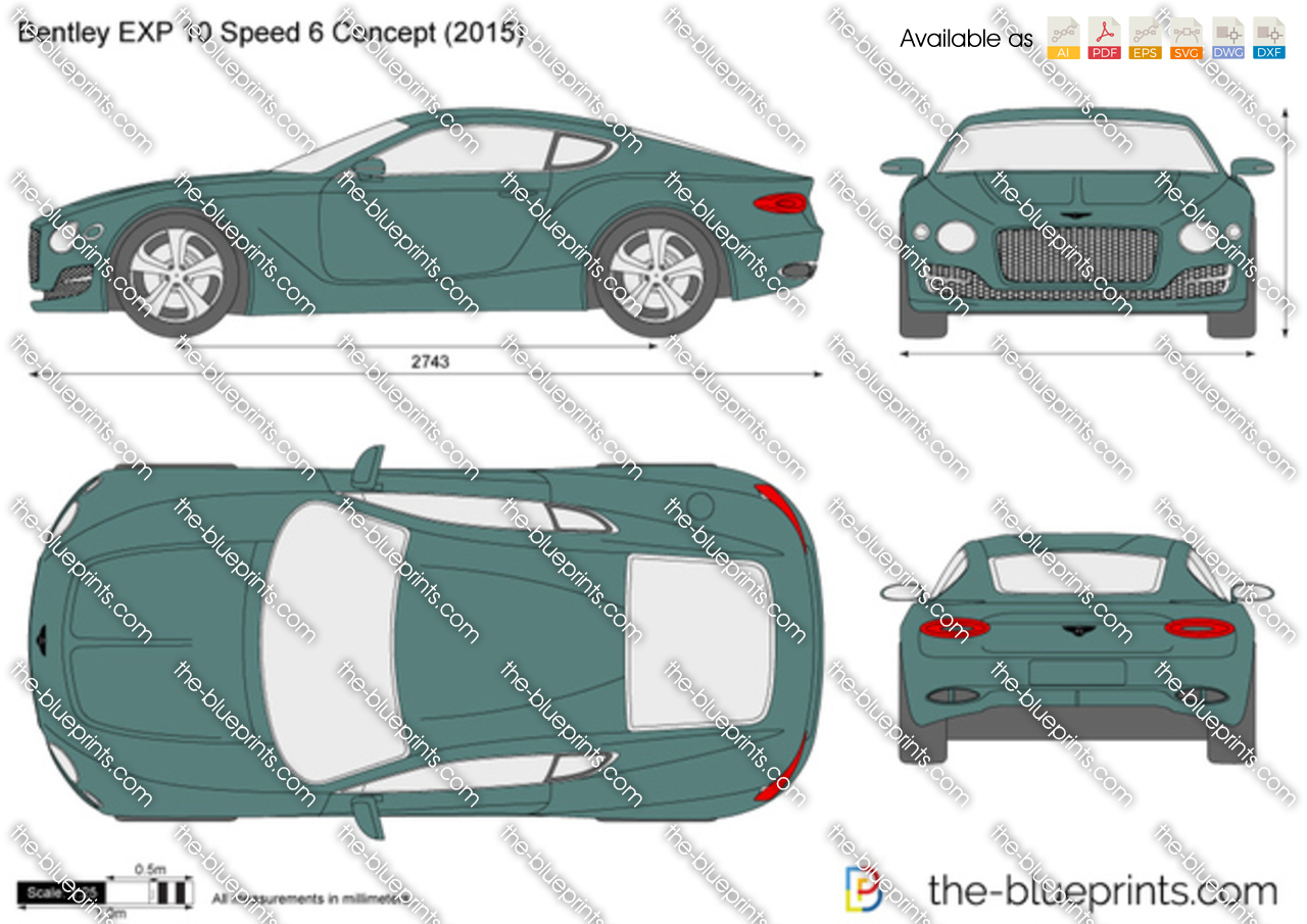 Bentley Exp 10 Speed 6 Concept Vector Drawing