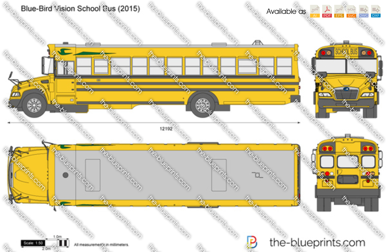 Blue-Bird Vision School Bus