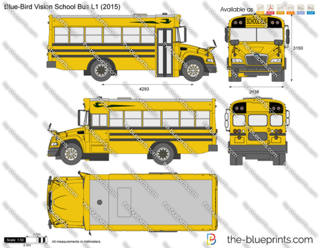 Blue-Bird Vision School Bus L1